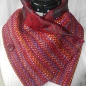 tweed cowl scarf