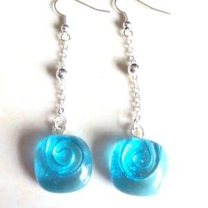 Earrings - Drop Ball Turquoise