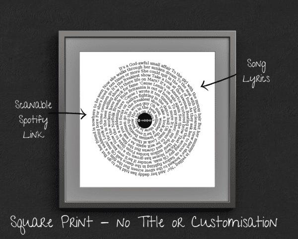 LP Song Lyrics Circle Gift