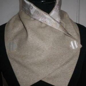Beige Tweed Scarf - Irish
