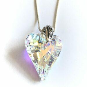 Swarvoski Elements Heart Crystal Pendant