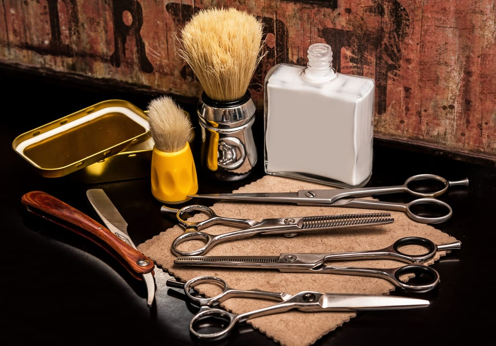Different equipment in barber shop