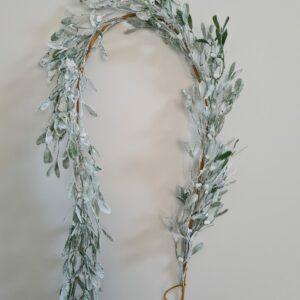 Frosted Mistletoe Garland