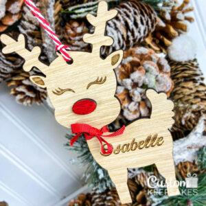 CD006 - Engraved Reindeer Name Deco