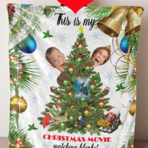 christmas blanket print with girl
